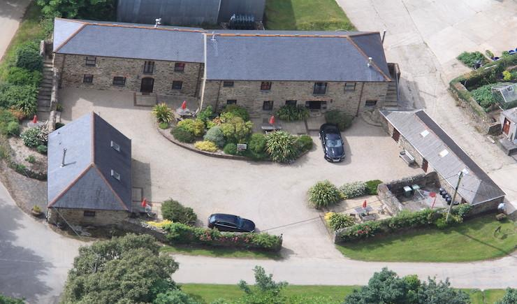 Aerial View of Callestock Courtyard