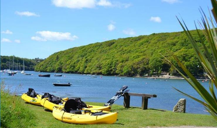 Get out and about on the Helford River - try your hand at kayaking