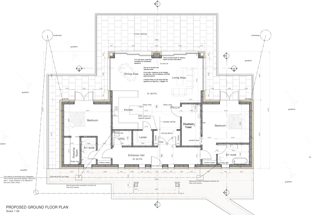 The floor plan of the new holiday cottage at Callestock Courtyard
